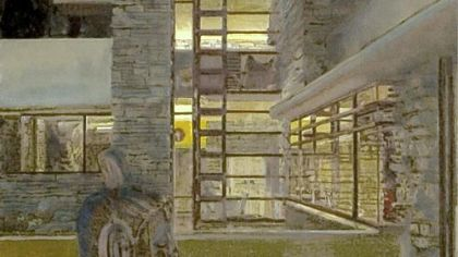 Concept Art Gallery exhibit revisits plein air paintings of Fallingwater by Felix de la Concha