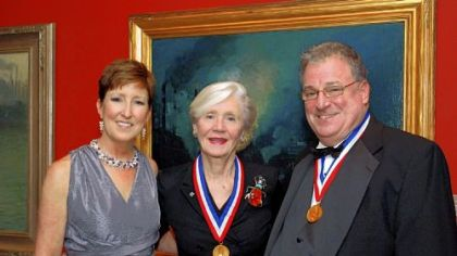Westmoreland Society Gold Medal presented to Carol Brown