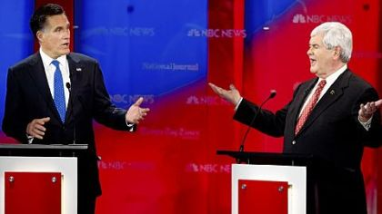 Romney, Gingrich stage sharp attacks