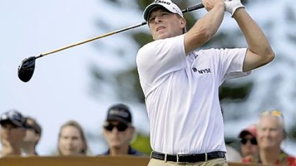 Stricker falters, then holds on for victory