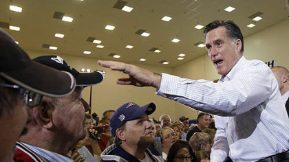 Romney targets Obama at Cape Canaveral stop