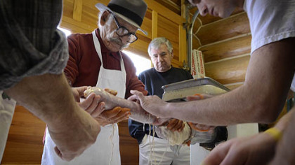 Making sausage: Local Italians gather to preserve meat as well as traditions from the Old Country
