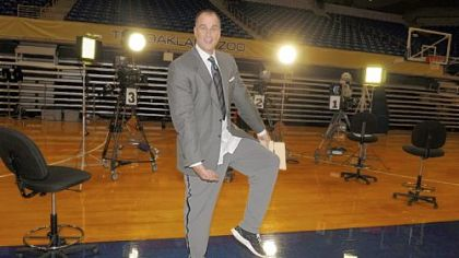 ESPN college basketball analyst Jay Bilas talks softly by TV standards