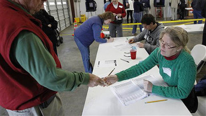 South Carolina voters make their mark