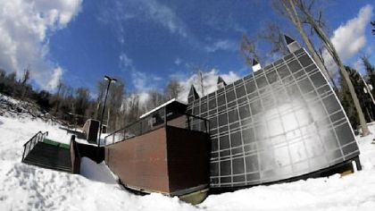 Snowboarders, skiers ride it all at Seven Springs urban terrain park