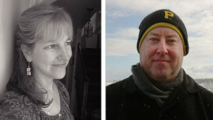 Local literary heroes Jane McCafferty and Stewart O'Nan unleash love story feasts