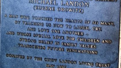 Furor after New Jersey hometown removes Michael Landon plaque