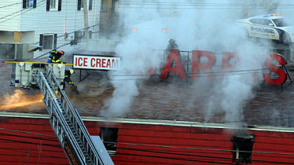 Fire breaks out at Sarris Candies