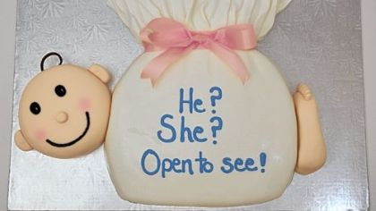 Gender Cakes: Cut the cake to learn the gender of your bundle of joy