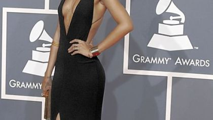 Glamour girls on the red carpet at the Grammys