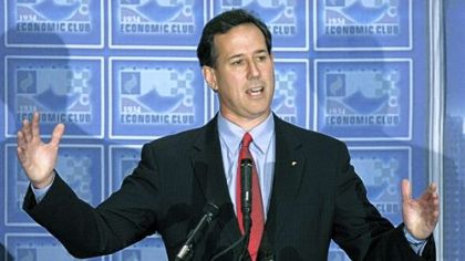 Santorum takes message to heart of Romney country