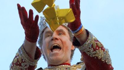 Will Ferrell leads Mardi Gras parade as King Bacchus