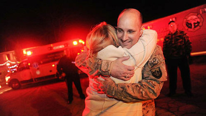 Christmas in February: Soldiers come home