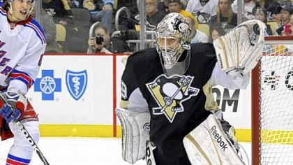 Fleury right on the mark as Penguins beat Rangers, 2-0