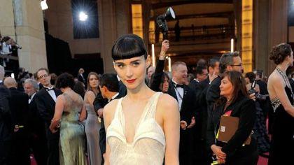 Rooney Mara -- Usually in black but for Oscar night she went with ivory.