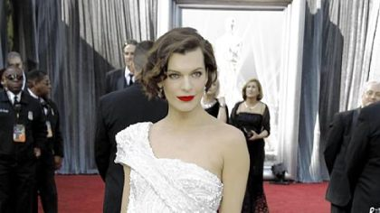 Milla Jovovich -- The single shoulder option.