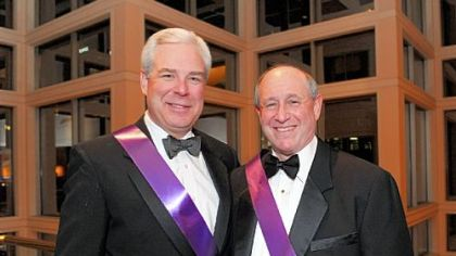 Mardi Gras Gala vice chairs George Stewart II, left, and Sy Holzer.