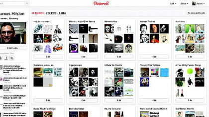 Online pinboard Pinterest booming