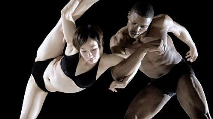 Masayo Yamaguchi, left, and Marlon Taylor-Wiles, of Armitage Gone! Dance troupe.