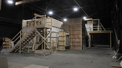 "The outside of a set Fox built for a pilot called ""Locke & Key"" at 31st Street Studios."