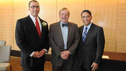 From left, Paul Lebovitz, Dr. Karl E. Williams and George Mazariegos.