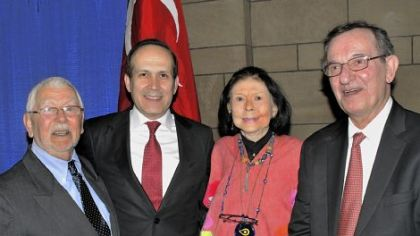 From left, Sakir Oguz, Ambassador Namik Tan, Maxine Bruhns and Malik Tunador.