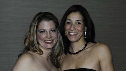 Robin Scibek, president elect and Nadeana Cook, Treasurer elect