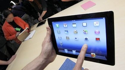 The new iPad features a sharper screen and a faster processor.
