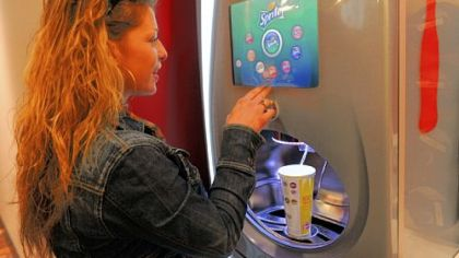 A first-time user, Angela Trimble of Aliquippa, mixes and matches with the Freestyle at the Wendy's in Dormont.