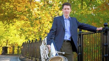 PSO tuba player Craig Knox gets his moment in the spotlight with Previn commission