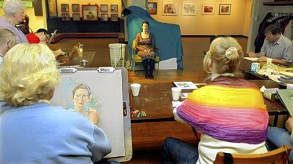 A portraiture class at The Associated Artists of Butler County Art Center in Butler.