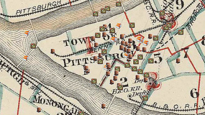 A detail from the Pittsburgh Mapping and Historical Site Viewer home page.