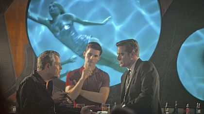 "Danny Huston, left, Steven Strait and Jeffrey Dean Morgan star in Starz's ""Magic City,"" set in a Miami Beach, Fla., hotel in 1959."