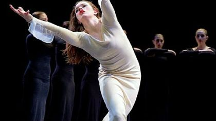 "Point Park University Conservatory Dance students perform ""Heretic"" by Martha Graham."