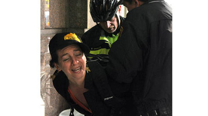 Rosalie Hannah, of Shadyside, was taken into custody  at EQT Plaza during protests Wednesday.