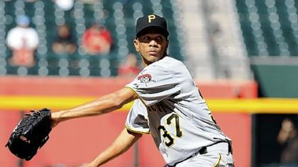 Juan Cruz, filling in for Joel Hanrahan, has saves in the past two games for the Pirates.
