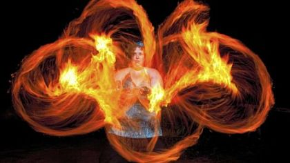 Performer Vicki will perform in the Pittsburgh Festival of Fire Arts Show at the Waterfront.