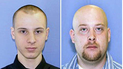 Kenneth Konias Jr., left, is accused of killing Michael Haines, right
