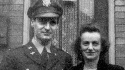 George and Mirjana Vujnovich in September 1943, when George returned from Africa to undergo OSS training in Virginia.