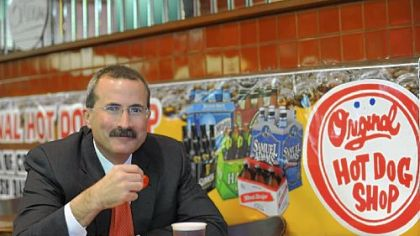 David Chavern, executive vice president and chief operating officer of the U.S. Chamber of Commerce, at Essie's Original Hot Dog Shop in Oakland. The fries at The O are one of the Pittsburgh native's favorites.