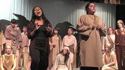 "Among the Mancini Award nominatins for Central Valley High School's ""Aida"" was Outstanding Vocal Ensemble."