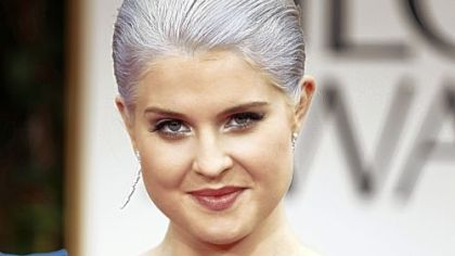 Some women prefer to go completely gray or white, a trendy look for younger women such as  Kelly Osbourne
