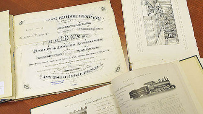 Materials for the new Iron and Steel Heritage Collection at the Carnegie Library of Pittsburgh.