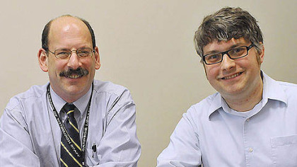 Richard Kaplan, left, and Ryan Hughes of the Carnegie Library of Pittsburgh.