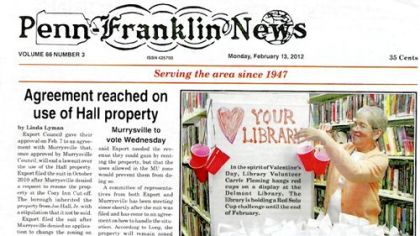 A recent copy of the Penn-Franklin news.