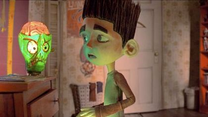 Ghoul whisperer  Norman gets spooked by his zombie lamp in &quot;Paranorman,&quot; which  opens Aug. 17.