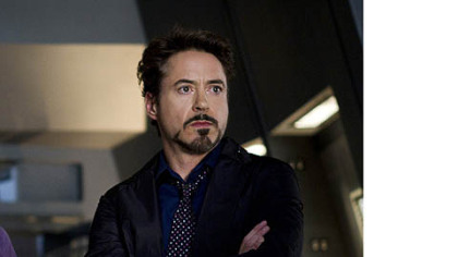 "Robert Downey Jr. is Tony Stark/Ironman in ""'Marvel's The Avengers."""