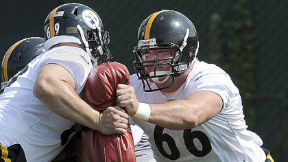 Steelers first-round draft pick David DeCastro works out during rookie mini-camp on the South Side Friday morning.