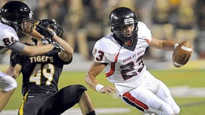 Upper St. Clair&#039;s Dakota Conwell, a Pitt recruit, is a dynamic offensive threat running or passing.