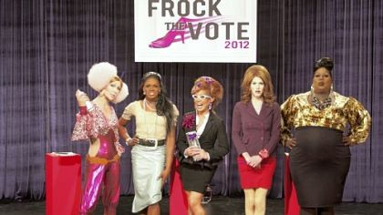 Pittsburgh&#039;s Sharon Needles, second right, won the &quot;Frock the Vote&quot; challenge on &quot;RuPaul&#039;s Drag Race.&quot;